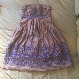 Anthropologie Floreat boho strapless dress
